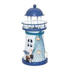 Deko Mittelmeer Style Leuchtturm Eisen Kerze LED Licht Haus Dekoration -14. U6L5