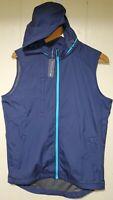 Peter Millar Crown Sport Full Zip Vest Jacket Men Small NWT $135.00 Zip-out Hood