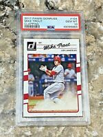 2017 Panini Donruss Clapping Mike Trout #104 PSA 10 GEM MINT Los Angeles Angels