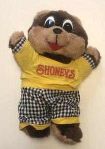 "Shoney's Teddy Bear Stuffed 10"" Plush Original Clothes 1995"