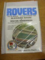 26/04/1978 Blackburn Rovers v Bolton Wanderers  . Footy Progs (aka bobfrankandel