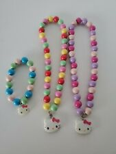 2 Sanrio Hello Kitty Bubble Bead Girls Necklace and 1 Bracelet 0361
