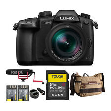 Panasonic LUMIX GH5 4K Mirrorless Camera w/ Lecia 12-60mm w/ 64GB UHS-II Kit