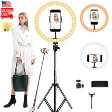 10in Led Ring Light Kit Phone Holder Pro Studio Photo Makeup Stand Selfie Stick