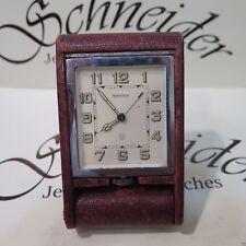 Vintage Genuine Jaeger LeCoultre travel alarm desk clock 8 days Manual Wind
