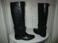 SURFACE TO AIR WOMEN'S BLACK LEATHER/SUEDE FRONT/BACK STRAPS BOOTS 36 US 6