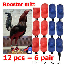 Rooster Cocks Chicken Mitt Para Gallos Hen Fighting Protection 12 Pcs Red6 Blue6