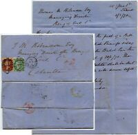 GB QV 1870 to INDIA 1s + 1d BENGAL COAL CO LETTER