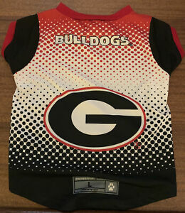 Georgia Bulldogs Pet Performance Tee Shirt - Large NWT Dog Jersey Go Dawgs