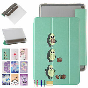 For Kindle Fire7 HD8 2020 HD10 Tri-fold Smart Magnetic Cute Pattern Case Cover