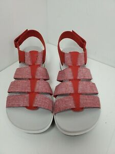 Women's Clark's CloudSteppers Arla Shaylie Red Slingback Sandals Size 10 Wide