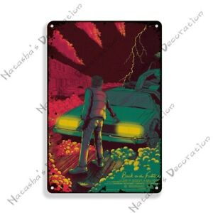 Back To The Future Movie Metal Car Poster Tin Sign Wall Decoration Plaque
