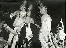 """""""Marquis de CUEVAS, Serge GOLOVINE, Liane Daydé"""" Photo originale dédicacée 1961"""