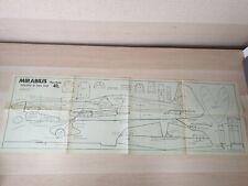 MIRABILIS MODEL PLAN - Paul Ellis Issued with Aeromodeller July 1974 RC Airplane