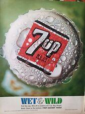 Lot of 3 Vintage 1967 7UP Ads Wet n Wild