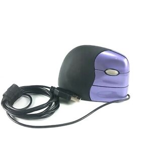 Evoluent VerticalMouse 2 Optical Right Handed VM2 USB Purple Wired-Tested