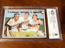 Frank & Brooks Robinson GRADED CARD!! Beckett BCCG 8!! 1967 Topps #1 Orioles