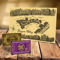 Harry Potter Diagon Alley Map UNIQUE PRESENT FOR CHRISTMAS GIFT FOR HER OR HIM