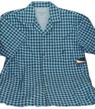 Nautica Men/'s Sleepwear Shirt Breezy Blue Checkered 100/% Cotton Medium $36