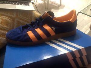 Adidas Wien Ink Orange Bluebird FX5630 Size 10.5 Us Dead Stock Sneakers