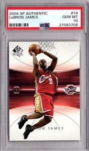 2004 Sp Authentic Lebron James 2nd Year Card  PSA 10  Invest Now!!!  #14
