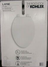 NEW-Open Box Kohler Layne 30015-0 Slow-Close Elongated Toilet Seat - White