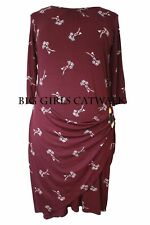Plus Size 3/4 Sleeve Knee Length Wrap Dresses for Women