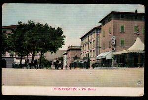 1910 ITALY MONTECATINI VIA ROMA POSTCARD