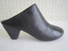 Maison Margiela Black Leather Open Back Slide Mule Size 37.5 US 7.5