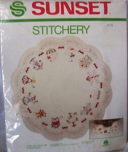 TWELVE DAYS OF CHRISTMAS Christmas Tree Skirt Kit #2176 by Sunset Stitchery