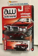 1969 Pontiac Firebird * DARK RED * Auto World * Vintage Muscle * Y11