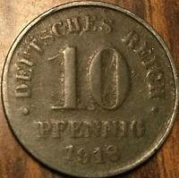 1918 GERMAN EMPIRE 10 PFENNIG