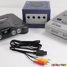 AV RCA Audio Video Cable TV Console Lead SNES SUPER NINTENDO N64 GAMECUBE