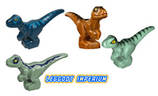 LEGO Baby Velociraptor - Blue Brown Green Delta Raptor Jurassic FREE POST