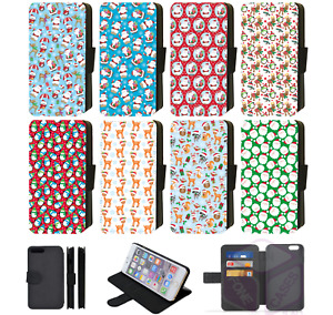 Christmas Galaxy Phone Case wrapping paper Design Kids Wallet Flip S7/S8/S9/S10