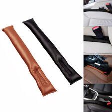 Black Car Seat Gap Leakproof Filler Soft Pad Drop Stop Holster Blocker Leather
