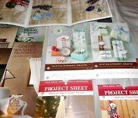 CRAFT PROJECT SHEETS- 70+IDEA PAGES from MICHAELS- MARTHA STEWART- ALEENES- MORE