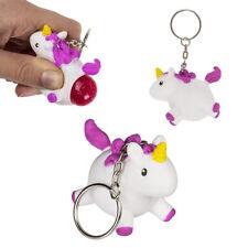 Porte clés licorne qui fait caca des paillettes roses - Squeeze pop fart animal