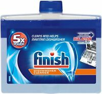 Finish Dual Action Dishwasher Cleaner: Fight Grease,Limescale,Fresh 8.45 oz. 9pk