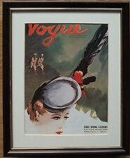 VOGUE Wall Art - 8''x10'', incorniciato VOGUE COPERTINA, VINTAGE VOGUE copre