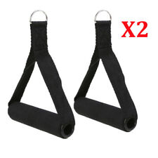 2x Tricep Rope Handle Cable Bar Attachment Resistance Exercise Home Gym Training