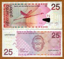 Netherlands Antilles 25 Gulden, 2016, P-29i, UNC > Flamingo