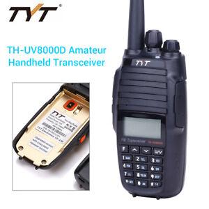 TH-UV8000D Long Range 10W UV Walkie Talkie Two Way Ham Transceiver Radio 3600mA
