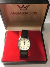 Vintage Ambassador  Men's Quartz  Wrist Watch Very Elegant (AM120-HK)