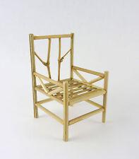 Dollhouse Miniature Fairy Garden Natural Bamboo Chair. 22490