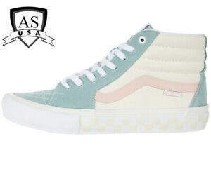 Vans Sk8-Hi Pro Washout Blue Antique High Top Skateboarding Shoes 10.5 New