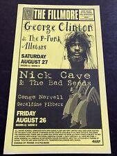 New listing George Clinton P Funk Nick Cave Congo Norvell Geraldine Fibbers Original Poster