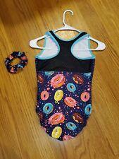 Plum Practicewear Girl's Gymnastics Leotard Size AS Adult Small Donuts Sprinkles