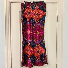 Billabong Aztec Multicolor Wide Leg Pants Sz Small