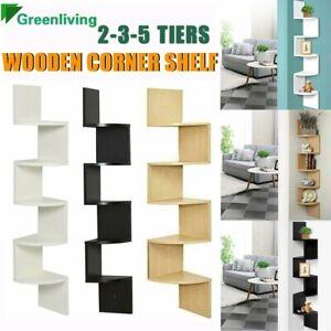 2-3-5 Tier Wall Mount Corner Home Furniture Floating Display Zig Zag Opt shelf